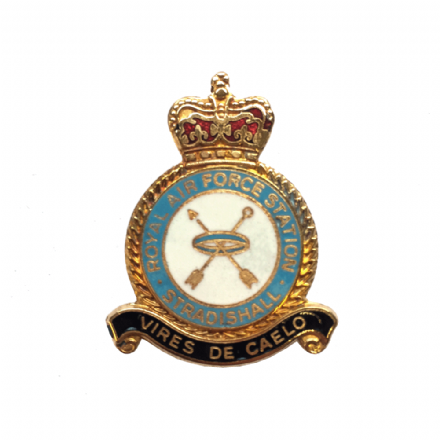 Royal Air Force RAF Station Stradishall Lapel Badge